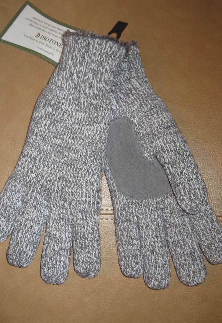 Women's Gloves Isotoner Gray One Size Fits Most New