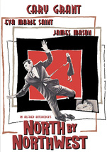 North By Northwest Movie Poster 27 x 40 in Cary Grant Alfred Hitchcock W... - $29.99