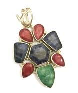 Handmade Sapphire, Ruby, and Emerald 925 Sterli... - $35.20