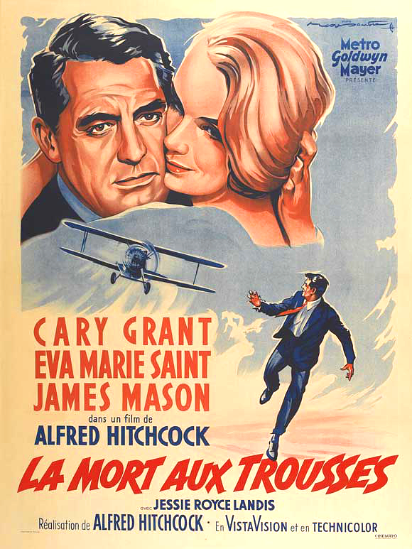 North by northwest movie poster 1959 french