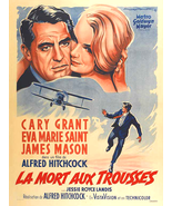 North By Northwest Movie Poster 27x40 French Cary Grant Alfred Hitchcock... - $29.99
