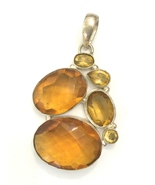 Handmade Honey Quartz 925 Sterling Silver Pendant - $41.60