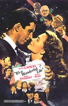 It's A Wonderful Life Movie Poster 27x40 in Jimmy Stewart Donna Reed OOP RARE  - $34.99