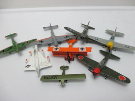 VINTAGE Die Cast Iron Lot of 8 Airplanes Hellca... - $39.56