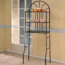 Black Metal Space Saver Bathroom Rack - Over The Toilet Shelf - Free Shi... - $52.42