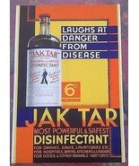 """JAK TAR DISINFECTANT (Leeds, England) 10"""" x 15"""" stand-up sign w/easel - $14.84"""