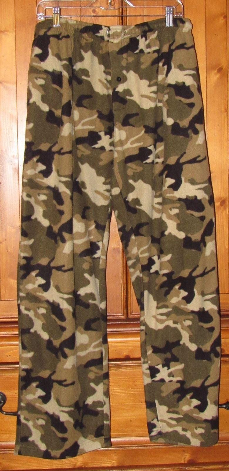 Open Trails Men's Camouflage Fleece Lounge Pants Multi-Color Size: L