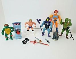 Vintage Action Figure Lot 1980s - Thundercats He Man MOTU Ghostbusters T... - $69.29