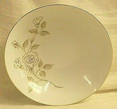 """Dolores by Mikasa 9"""" Round Serving Bowl Gold & White Rose Coupe Shape Gold Trim - $39.59"""