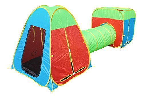 Primary image for G3Elite Kids Play Tent 3 Piece Pop Up Foldable Tunnel Set (1 Year Warranty)