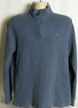 Polo Ralph Lauren Estate Rib Mens 1/4 Zip Pullover Sweater Blue Size L L... - $29.69