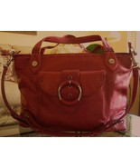 Elaine Turner Large Tote Bag Red NWOT $500 Retail - $169.50