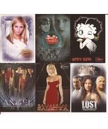 Promo Trading Cards Lot Buffy Angel Battlestar Galactica Betty Boop Lost - $9.95