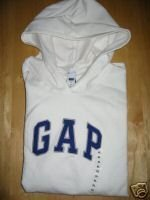 NWT Womens Gap White Hoodie Sweatshirt XXL XXLarge GAP