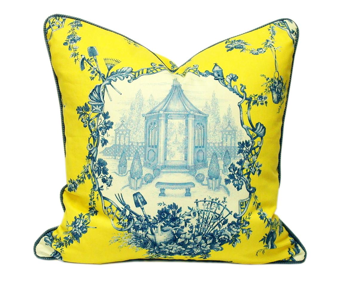 Farmhouse Toile Accent Pillow - $185.00