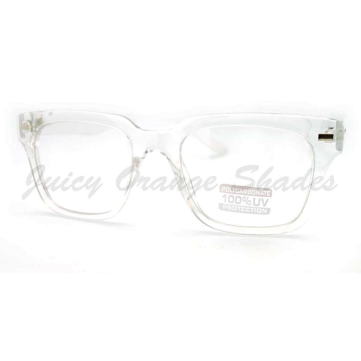 Square Eyeglasses Optical Frame Clear Lens Fashion Glasses