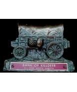 Old Killdeer North Dakota ND Copper Wagon Coin Bank N.D - $12.50