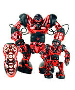 WowWee Robosapien + Mini Robosapien Combo - Red EUC All parts work Big &... - £114.07 GBP