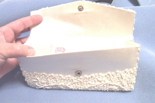 Clutch Purse Satin And Sequin AB
