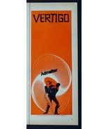 1958 VERTIGO HITCHCOCK MOVIE AD POSTER SAUL BASS DESIGN RARE 1/2 PAGE VE... - $94.99