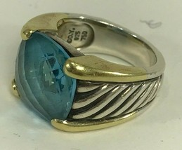 David Yurman - Albion Ring 11mm Hampton Blue Topaz -  Size 7 - $494.95