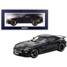 2019 Mercedes-AMG GT R Dark Gray Metallic 1/18 Diecast Model Car by Nore... - $139.26
