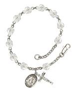 Bliss Saint Augustine Crystal April Birthstone Rosary Bracelet - $59.99
