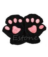 1 PC Winter Women Cute Cat Claw Paw Plush Mittens Short Fingerless Half ... - $14.86