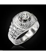 Sterling Silver Rolex Design Men's CZ Ring - $49.99