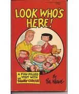 1972 Fawcett Look Who's Here The Family Circus Paperback Bil Keane Humor... - $4.95