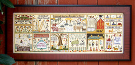 SHOW SPECIAL: Farms Of Hawk Run Hollow cross stitch  Carriage House Samplings - $22.50