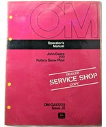 VTG John Deere 270 Rotary Snow Plow Equipment Operators Manual Dealer Co... - $17.90