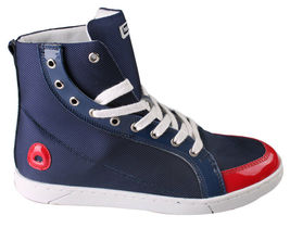Heyday Shift Lite Core Blue Nylon Red Patent Leather Hi Top Shoes 10US 43 NIB image 3