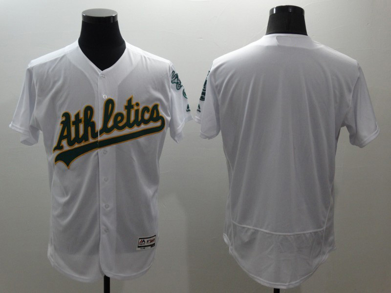 No Number Blank Jerseys Oakland Athletics white home t shirts for sale  USA