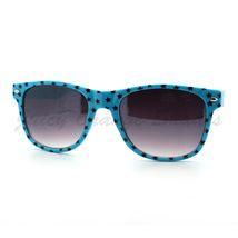 Stars Print Sunglasses Classic Square Horn Rimmed Frame (Spring Hinge) - $6.95