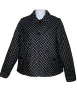 Jones NY Petite quilted jacket sz PS navy blue plaid coat NEW $139  - $25.00