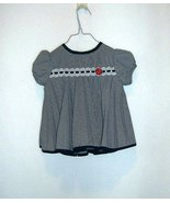Ashley Ann Navy Checked Pleated Easter Party Dress Infants 3-6 Mos - $5.99
