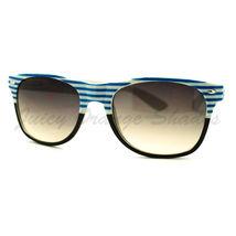 Stripe Print Sunglasses Classic Square Horn Rim Frame Unisex - $7.15