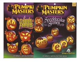 Pumpkin Masters Lot Spooktacular Scenes & Creature Features Carving Books - £7.69 GBP