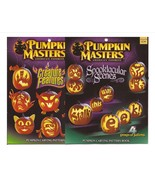 Pumpkin Masters Lot Spooktacular Scenes & Creature Features Carving Books - $9.95