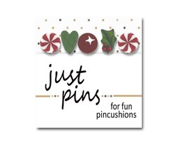 Mistletoe Holiday JP158 Peppermint Owl set 5 for pincushions JABC Just Ano - $13.95