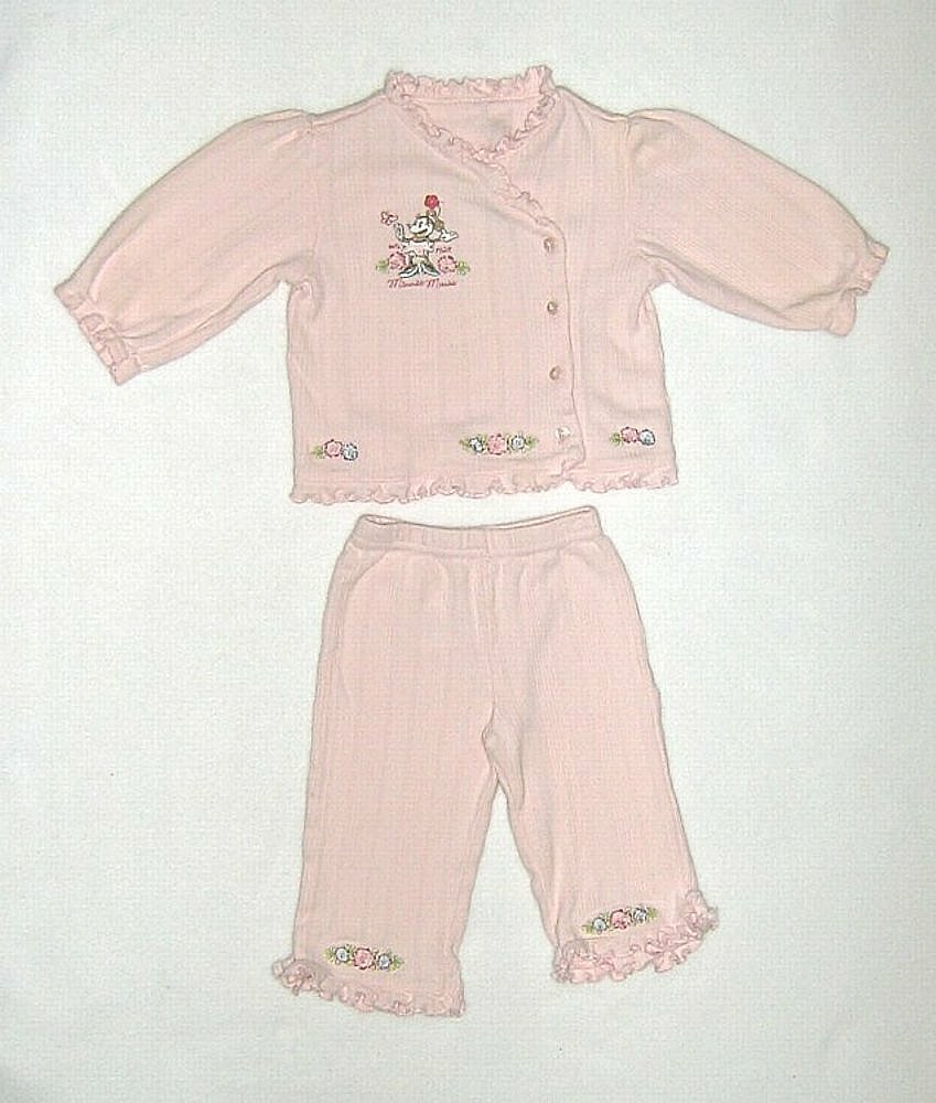 Primary image for Disney Minnie Mouse Pink Embroidered Top and Pants Size 6/9 months