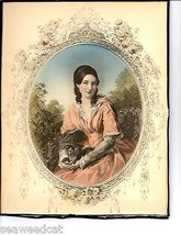 Mrs Elijah Hall Vintage Original Lithograph By ... - $65.00