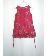 Disorderly Kids Party Dress Pink with Sheer Pink Floral Overlay Size 4 - $5.99