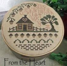 The Acorn House cross stitch chart From The Heart  - $5.00