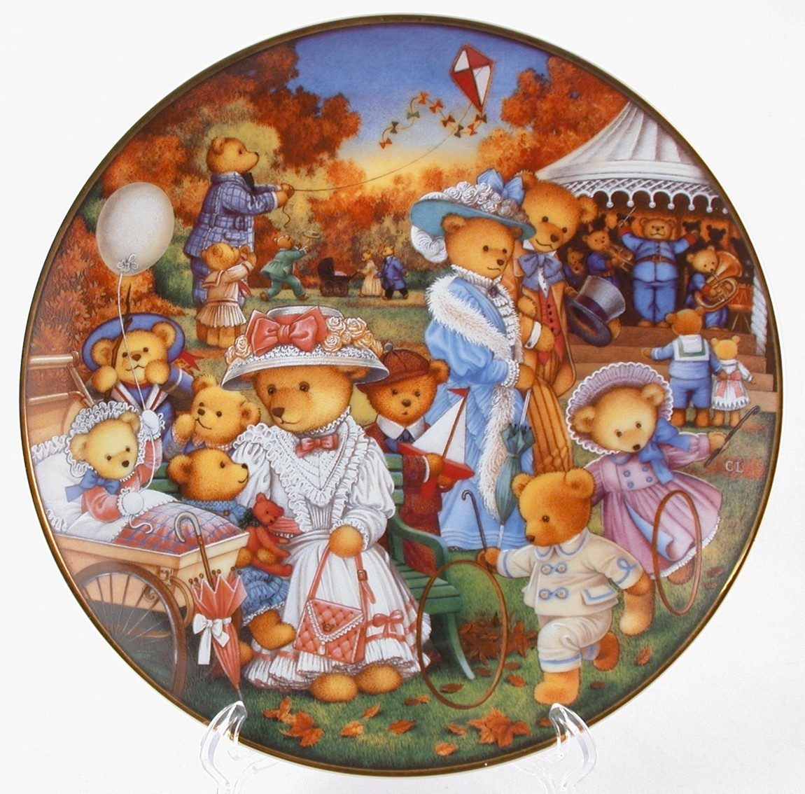 Primary image for Franklin Mint Teddy Bear Outing Limited Edition Heirloom Collection Plate N3498