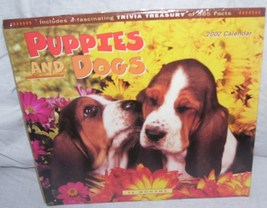 PUPPIES AND DOGS 2002 Collector 16 Month Wall Calendar NEW! - $3.96