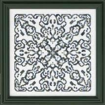 A Ghoustly Mandala white cross stitch chart Ink Circles  - $9.00