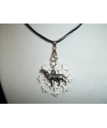 Wolf and snowflake necklace - $20.00