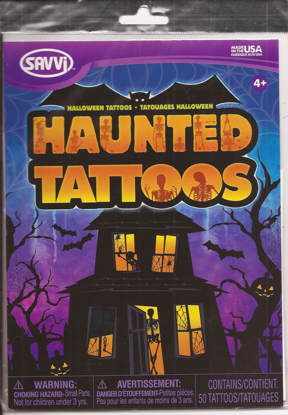 Primary image for Savvi Haunted Tattoos Lot of 3 Horror Monster Halloween Accessories
